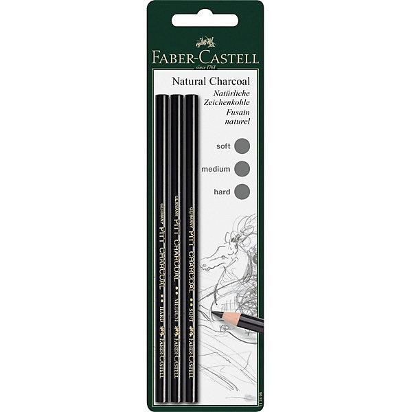 цена на Faber-Castell Набор угольных карандашей Faber-Castell Pitt, 3 шт