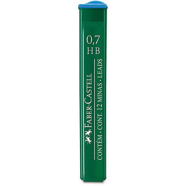 Faber-Castell Грифели для механических карандашей Faber-Castell Polymer, 12 шт., 0,7 мм, HB cross грифели для механических кассетных карандашей 0 5 мм 12 шт 1 ластик в кассете