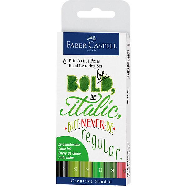 Faber-Castell Набор капиллярных ручек Faber-Castell Pitt Artist Pen Lettering, 6 шт