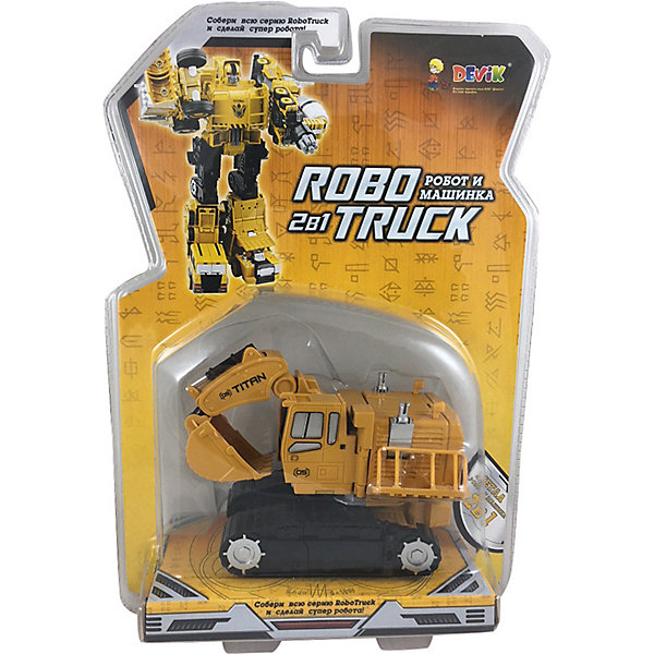 Devik Toys Робот и Машинка 2 в 1 Девилон Экскаватор