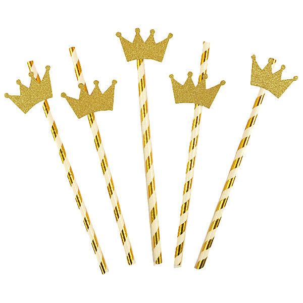 Патибум Комплект трубочек для напитков Патибум, с золотой короной