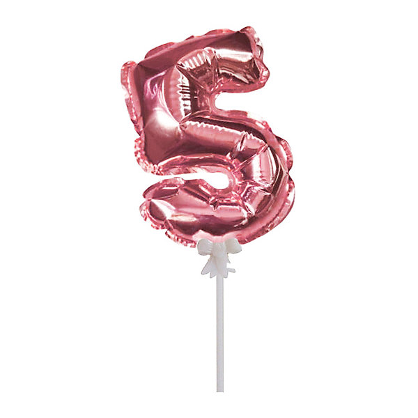 Патибум Самонадувной шарик Патибум, Цифра 5: Rose Gold, 18 см