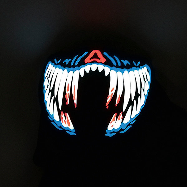 Патибум Полумаска Патибум, Челюсть, c подсветкой патибум салфетки патибум горошек красный 33х33 см 12 шт