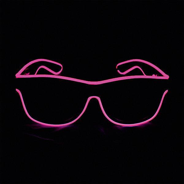 Патибум Очки Hot pink, с подсветкой