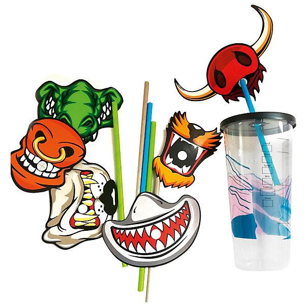 Патибум Комплект трубочек для напитков Патибум, Animal Smile