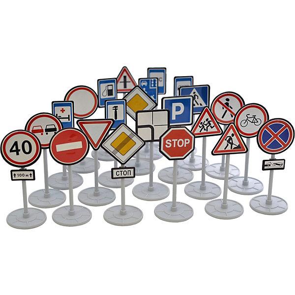 Наша Игрушка Игровой набор Форма Дорожные знаки, 23 шт dickie светофор набор дорожных знаков 24 см 3741001