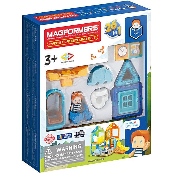 Купить Магнитный конструктор MAGFORMERS Max's Playground Set, 33 элемента, Китай, Унисекс