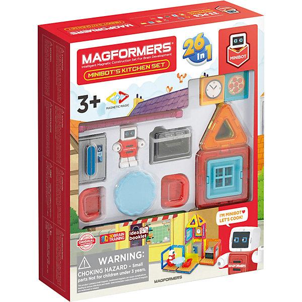Купить Магнитный конструктор MAGFORMERS Minibot's Kitchen Set, 33 элемента, Китай, Унисекс