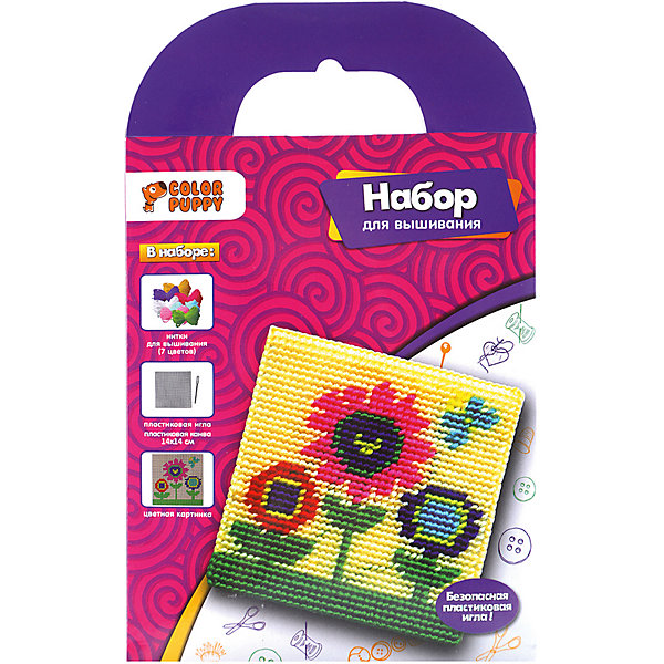 Color Puppy Набор для вышивания Цветы