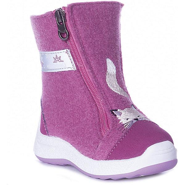 Валенки Котофей блекло-розового цвета