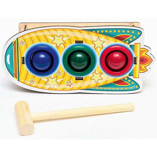 Woodland Игрушка Woodland Стучалка цветная: Ракета стучалка woodland домик 4 отверстия 115308 красный синий зеленый желтый