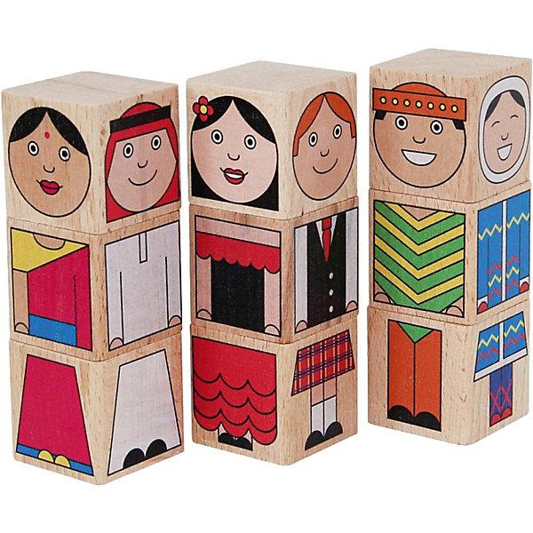 Краснокамская игрушка Кубики Народы мира