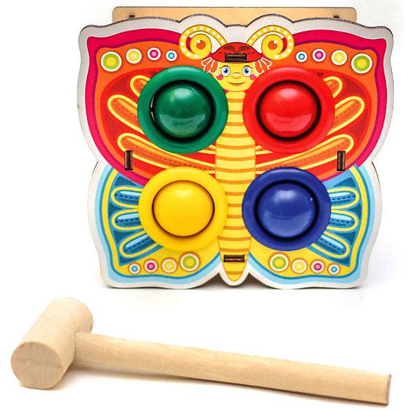 Woodland Игрушка Woodland Стучалка цветная: Бабочка стучалка woodland домик 4 отверстия 115308 красный синий зеленый желтый