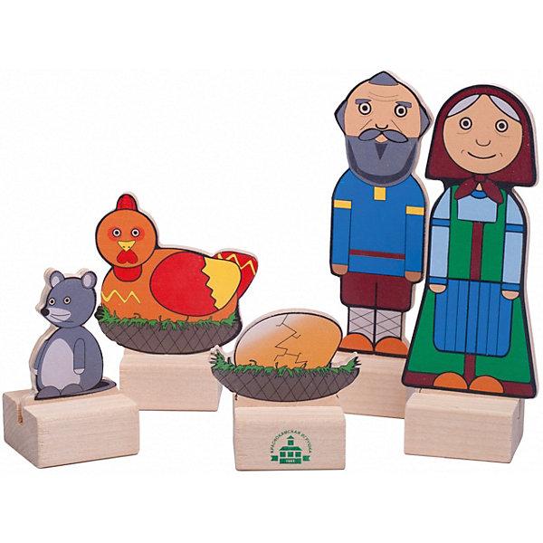 Краснокамская игрушка Набор для кукольного театра Персонажи сказки Курочка ряба