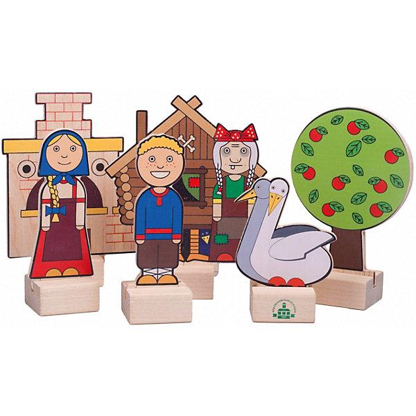 Краснокамская игрушка Набор для кукольного театра Краснокамская игрушка Персонажи сказки Гуси-лебеди краснокамская игрушка кукольный театр из дерева репка н 19