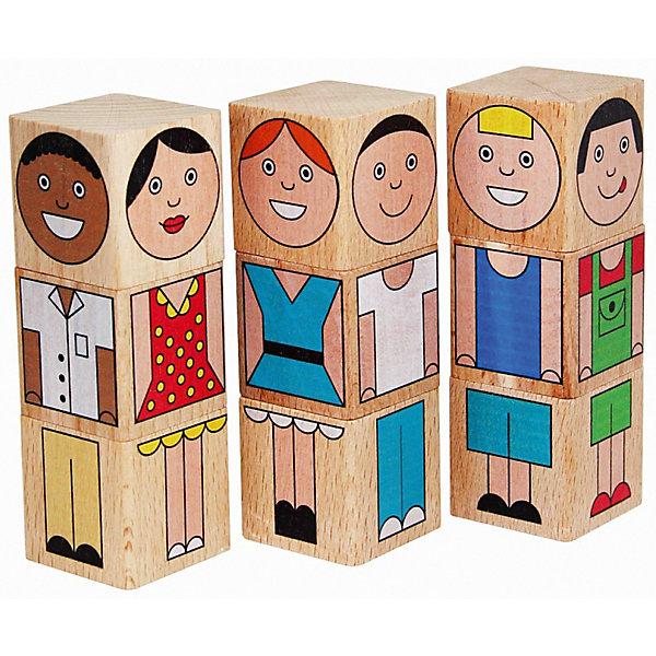 Краснокамская игрушка Кубики Смешные человечки