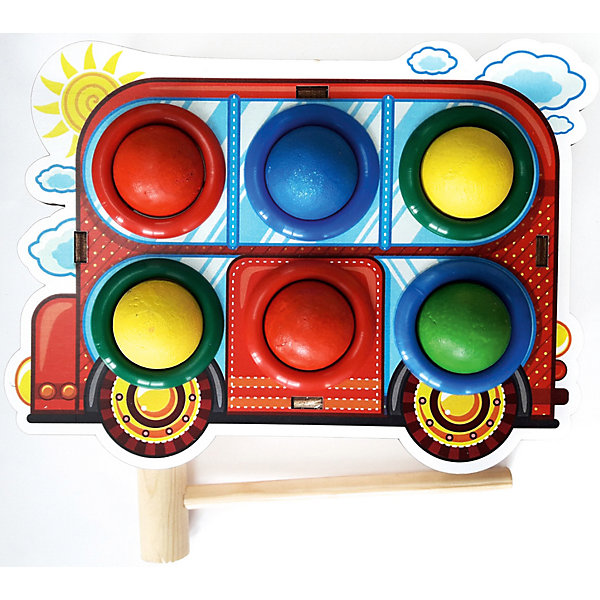 Woodland Игрушка Woodland Стучалка цветная: Автобус