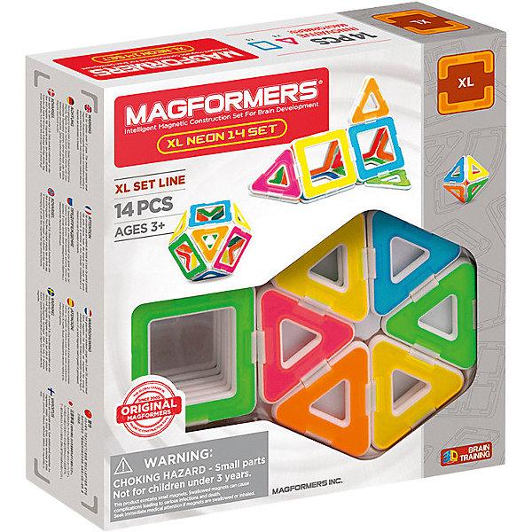 MAGFORMERS Магнитный конструктор Magformers XL Neon 14 set