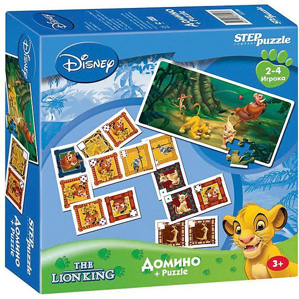 цена на Степ Пазл Домино + пазл Step Puzzle Disney, Король лев