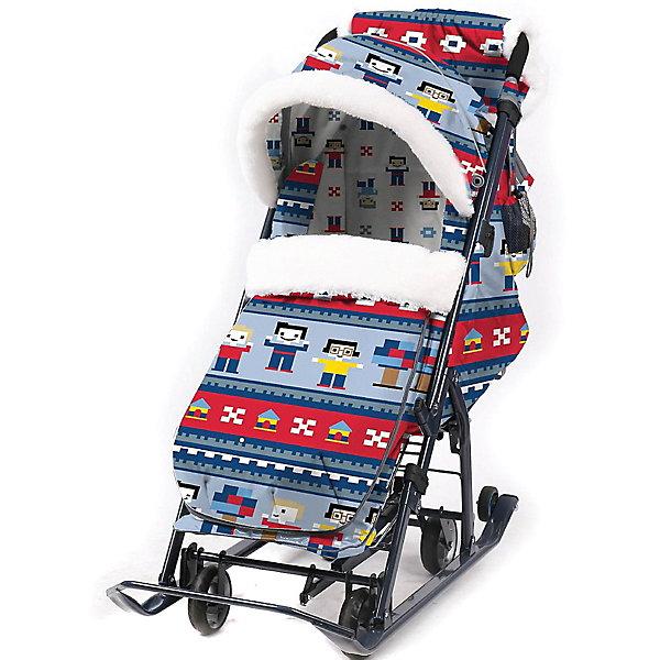 Nika-Kids Санки-коляска Nika Ника детям 7-5, в стиле лего