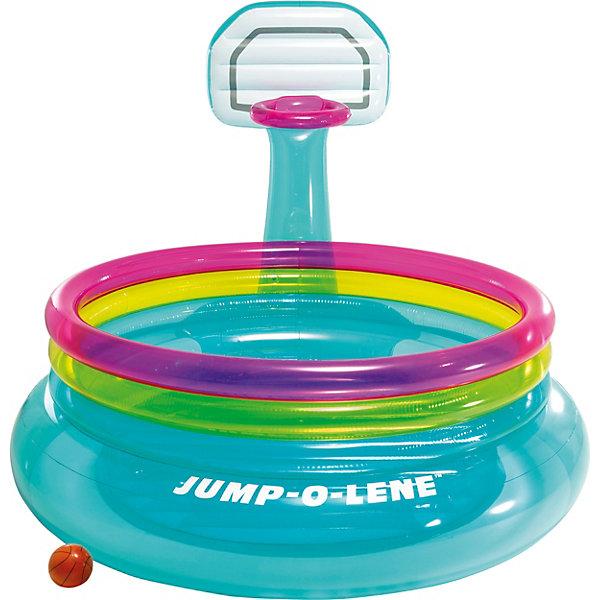 Intex Надувной батут с баскетбольным набором Intex Shoot´N Bounce Jump-O-Lene intex ремонтный комплект intex