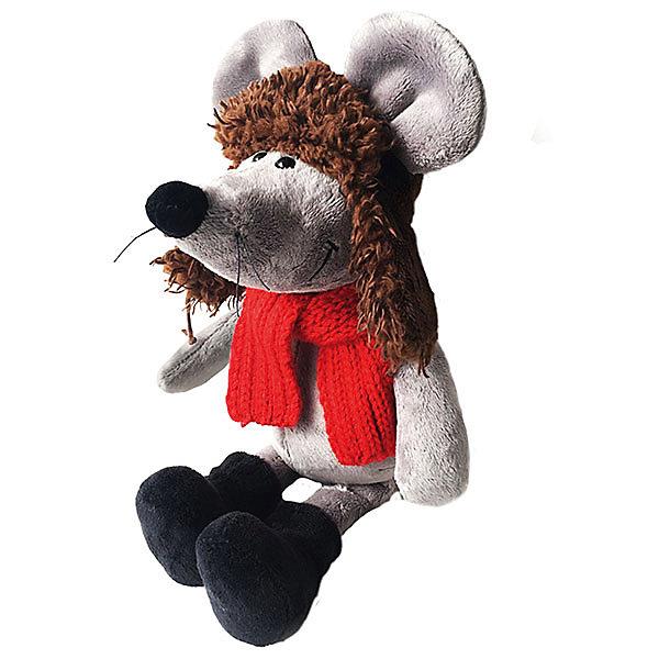 Softoy Мягкая игрушка Мышь в ушанке 36 см