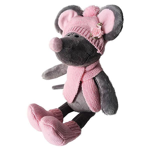 все цены на Softoy Мягкая игрушка Softoy Мышь в шапке 36 см онлайн