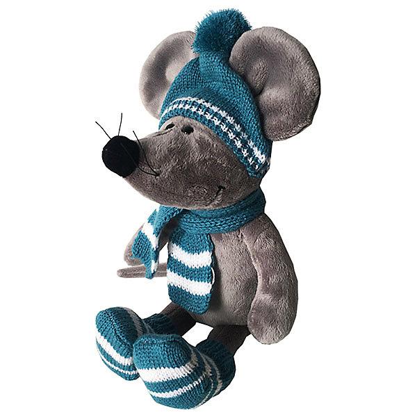 все цены на Softoy Мягкая игрушка Softoy Мышь в шарфе 36 см онлайн