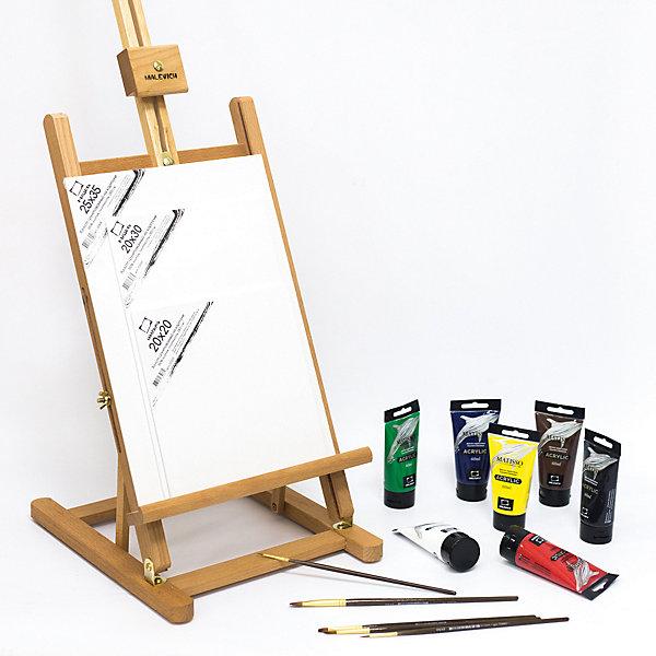 Купить Стартовый набор Малевичъ для живописи акрилом, Китай, разноцветный, Унисекс