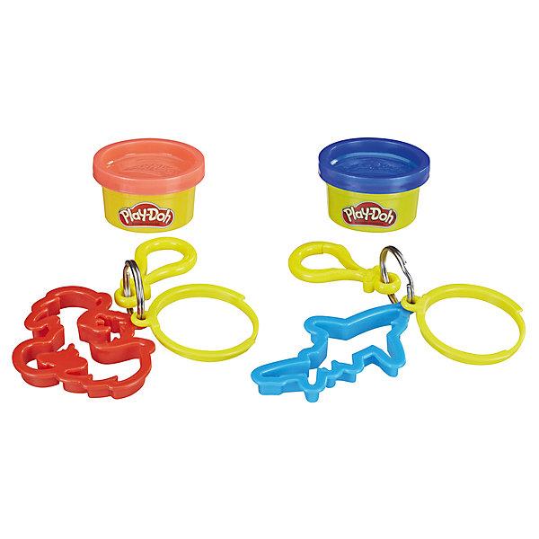Hasbro Игровой набор Play-Doh Баночка и штамп Брелок дракон акула