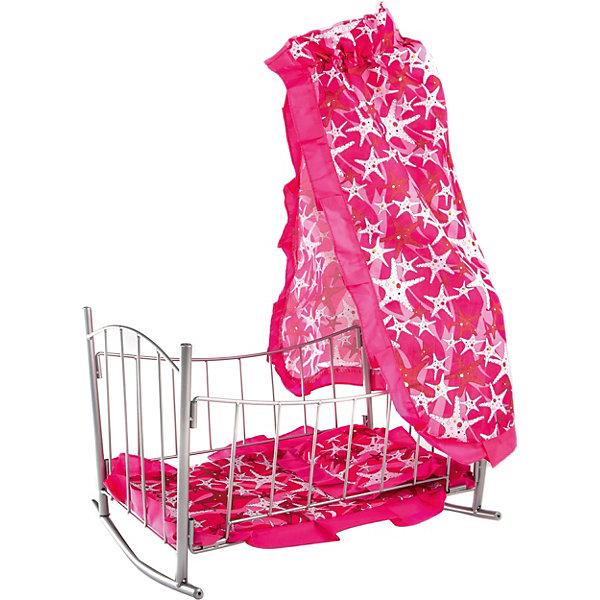 Buggy Boom Кроватка-качалка Loona, темно-розовый со звездами