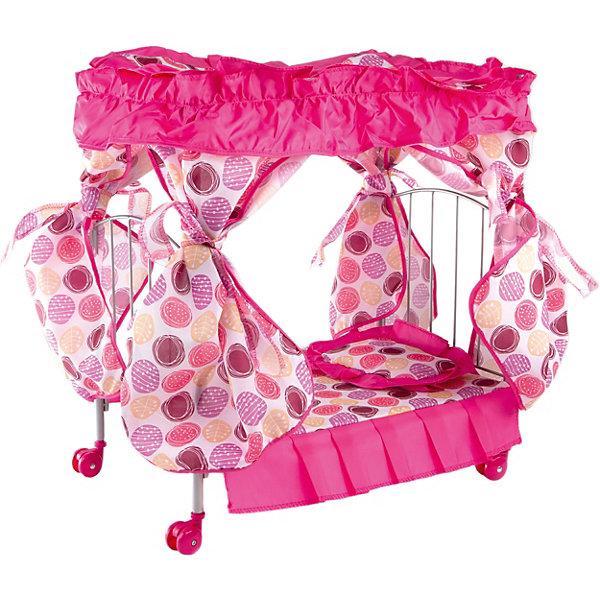 Buggy Boom Кроватка с балдахином Loona, кружочками