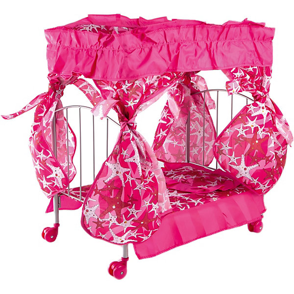 Buggy Boom Кроватка с балдахином Loona, темно-розовый со звездами