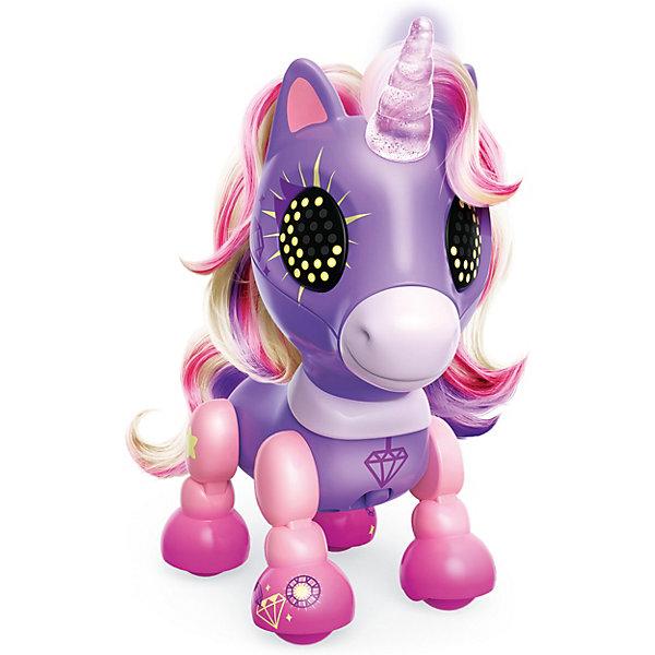 Spin Master Интерактивная игрушка Zoomer Счастливый единорог Crystal, фиолетовый