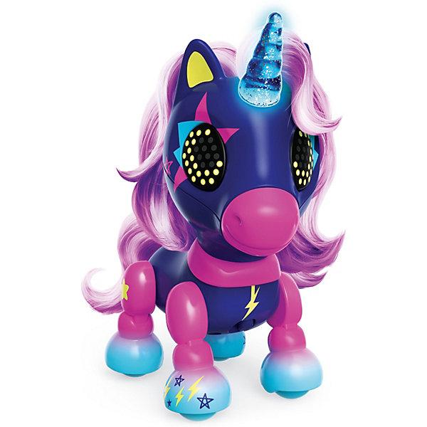 Spin Master Интерактивная игрушка Zoomer Счастливый единорог Midnight, тёмно-синий