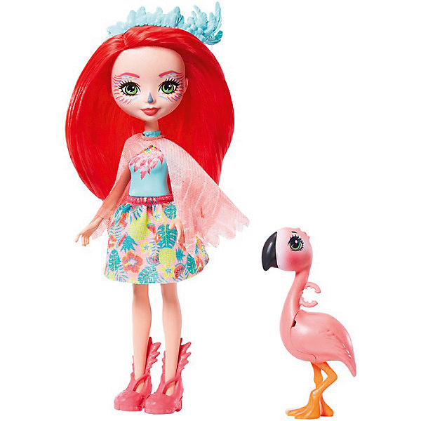 Mattel Кукла с любимой зверюшкой Enchantimals, Фенси Флэминг и Свош кукла enchantimals со зверушкой и тематическим набором fcc62 праздник фламинго