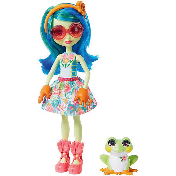 Mattel Кукла с любимой зверюшкой Enchantimals, Тамика Квакша и Бёст