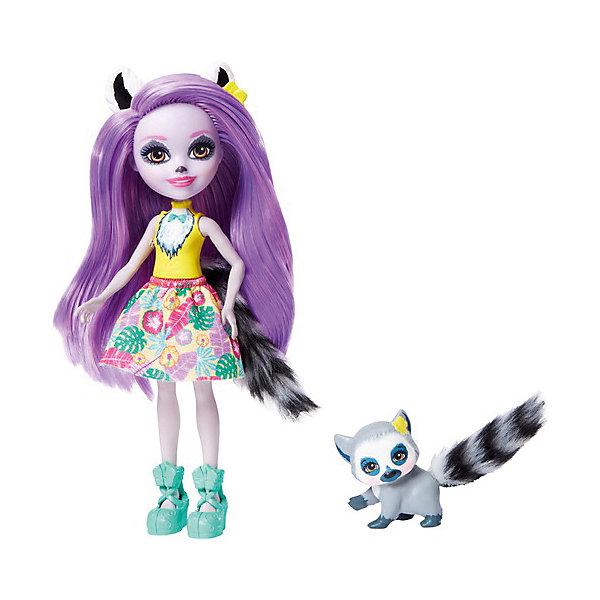 Mattel Кукла с любимой зверюшкой Enchantimals, Лариса Лемури и Ринглет