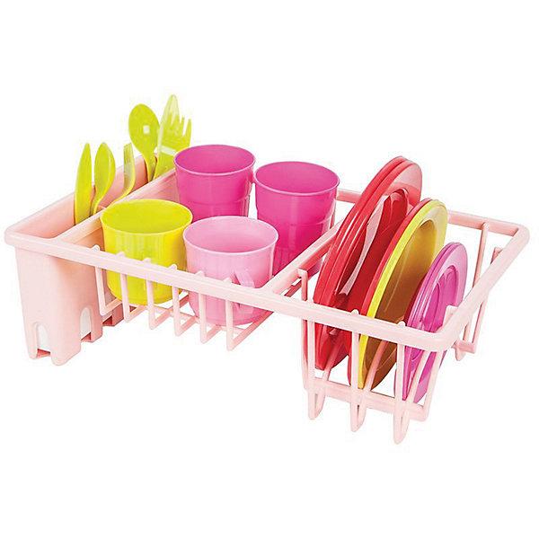 Pilsan Игровой набор посуды Pilsan, с подставкой ролевые игры pilsan игровой кухонный набор 3 уровня sedolous ketchen set