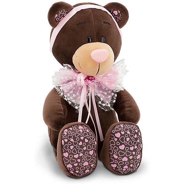Купить Мягкая игрушка Orange Choco&Milk: Мишка Milk розовый бант, 30 см, Китай, коричневый, Унисекс