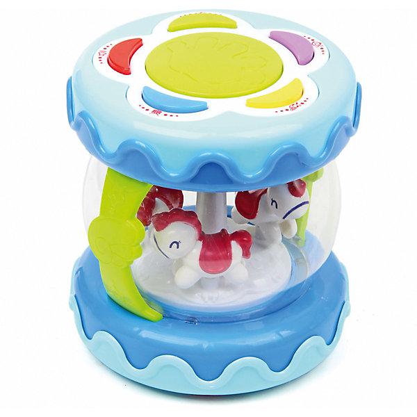 Ути-Пути Развивающая игрушка-барабан Уси Пуси Лошадки на карусели