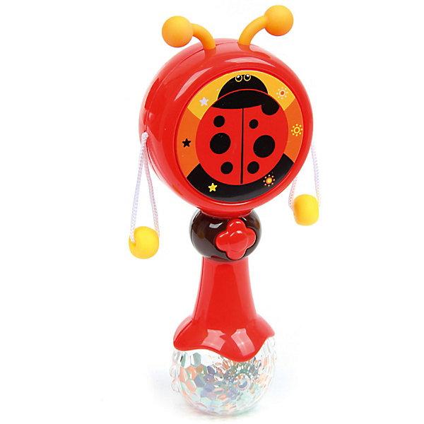 Ути-Пути Погремушка-барабан Ути Пути Бубенцы Божья коровка, со светом и звуком
