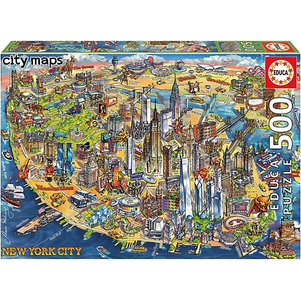 Educa Пазл Карта Нью-Йорка, 500 элементов