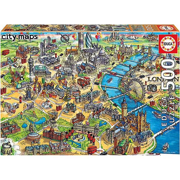 Educa Пазл Карта Лондона, 500 элементов