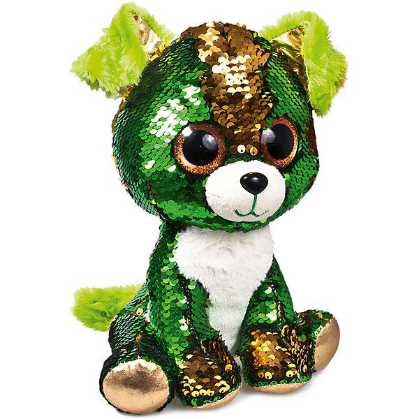 Fancy Мягкая игрушка Fancy Щенок Изумруд, зелено-золотой мягкая игрушка bebelot пушистый
