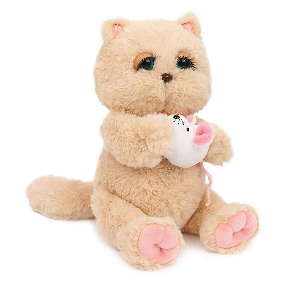 Angel Collection Мягкая игрушка Киска Персик с мышкой, бежево-розовая