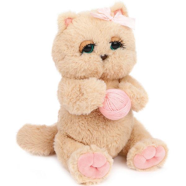 Angel Collection Мягкая игрушка Киска Персик с клубком, бежево-розовая