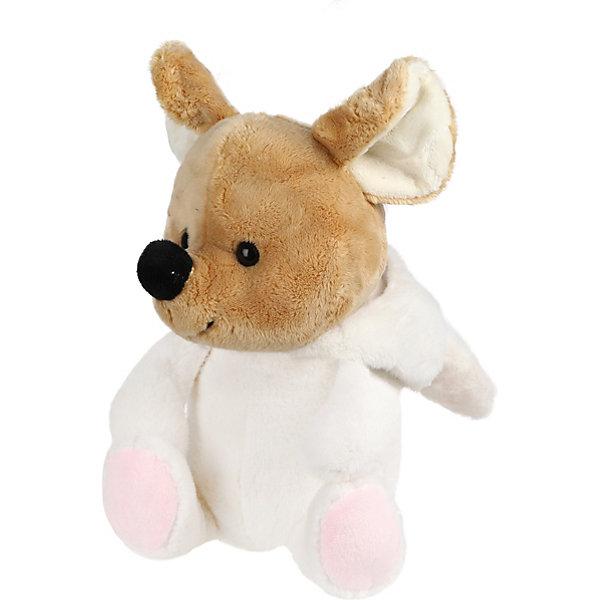 Fluffy Family Мягкая игрушка Fluffy Family Мышонок-зайка, 21 см, бело-коричневая мягкая игрушка бегемот fluffy family бегемот 21 см серый коричневый искусственный мех пластмасса наполнитель