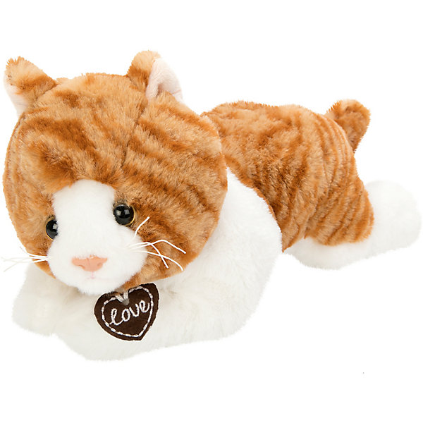 Fluffy Family Мягкая игрушка Fluffy Family Кошка Лежебока, 28 см, бело-коричневая мягкая игрушка бегемот fluffy family бегемот 21 см серый коричневый искусственный мех пластмасса наполнитель