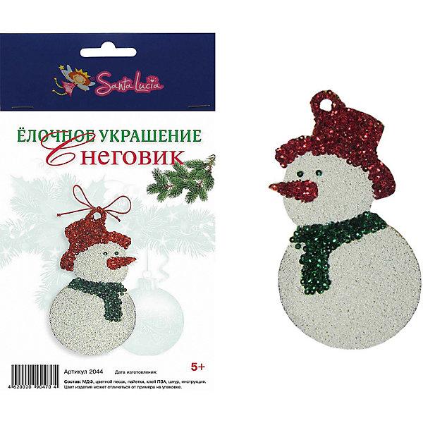 Santa Lucia Набор для творчества Елочное украшение Снеговик